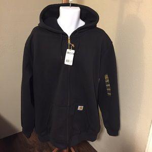 Carhartt Men's XL midweight hooded zip-front swetr